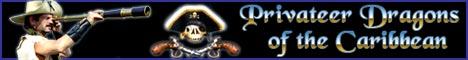 Privateer Dragons of the Caribbean web banner ad